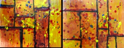 A Splash of Yellow (diptych)