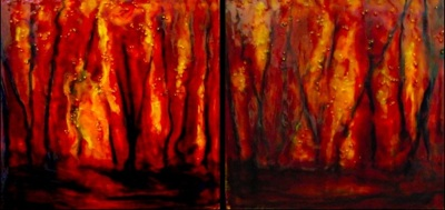 Glowing Embers (diptych)