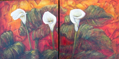 Lillies (Diptych)