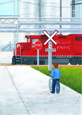 X is for Railway Crossing