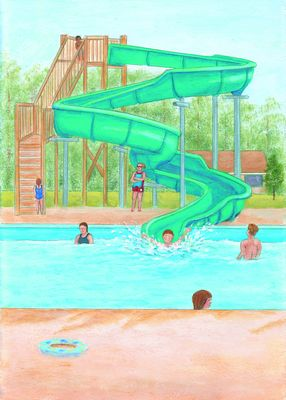 W is for Waterslide